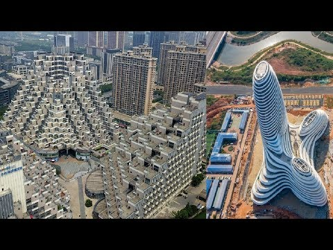 China's Mind Blowing Pyramid Residential Building :Guangxi News Media Centre Strange Architecture