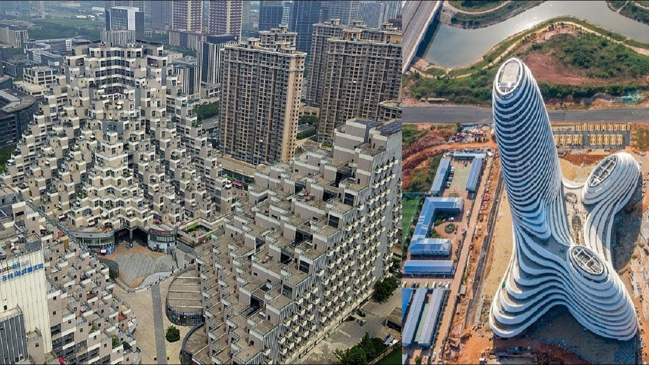 China S Mind Blowing Pyramid Residential Building Guangxi News Media Centre Strange Architecture Youtube