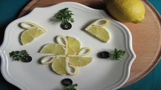ЛЕБЕДИ ИЗ ЛИМОНА. Украшения из лимона