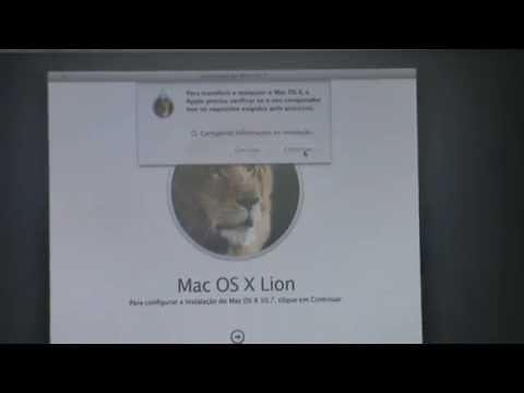 Erro Instalação MAC OS X Lion 10.7 - MacbookPro