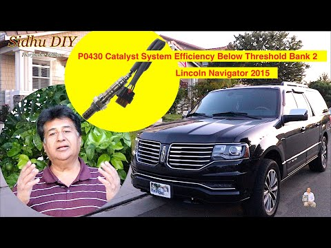 How To Replace o2 Sensor on Lincoln Navigator | How To Check if Oxygen Sensor is Bad | P0430 Bank 2