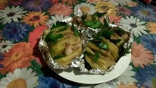 """Картошка """"Гармошка"""" с мясом и специями. Очень вкусный рецепт!"""
