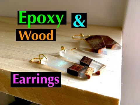 Diy: How to make Custom Geometric Earrings out of scrap Wood and Epoxy Resin