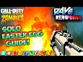 RAVE IN THE REDWOODS SOLO EASTER EGG GUIDE! - Iw Zombies Solo EE Tutorial Zombies Map DLC 1