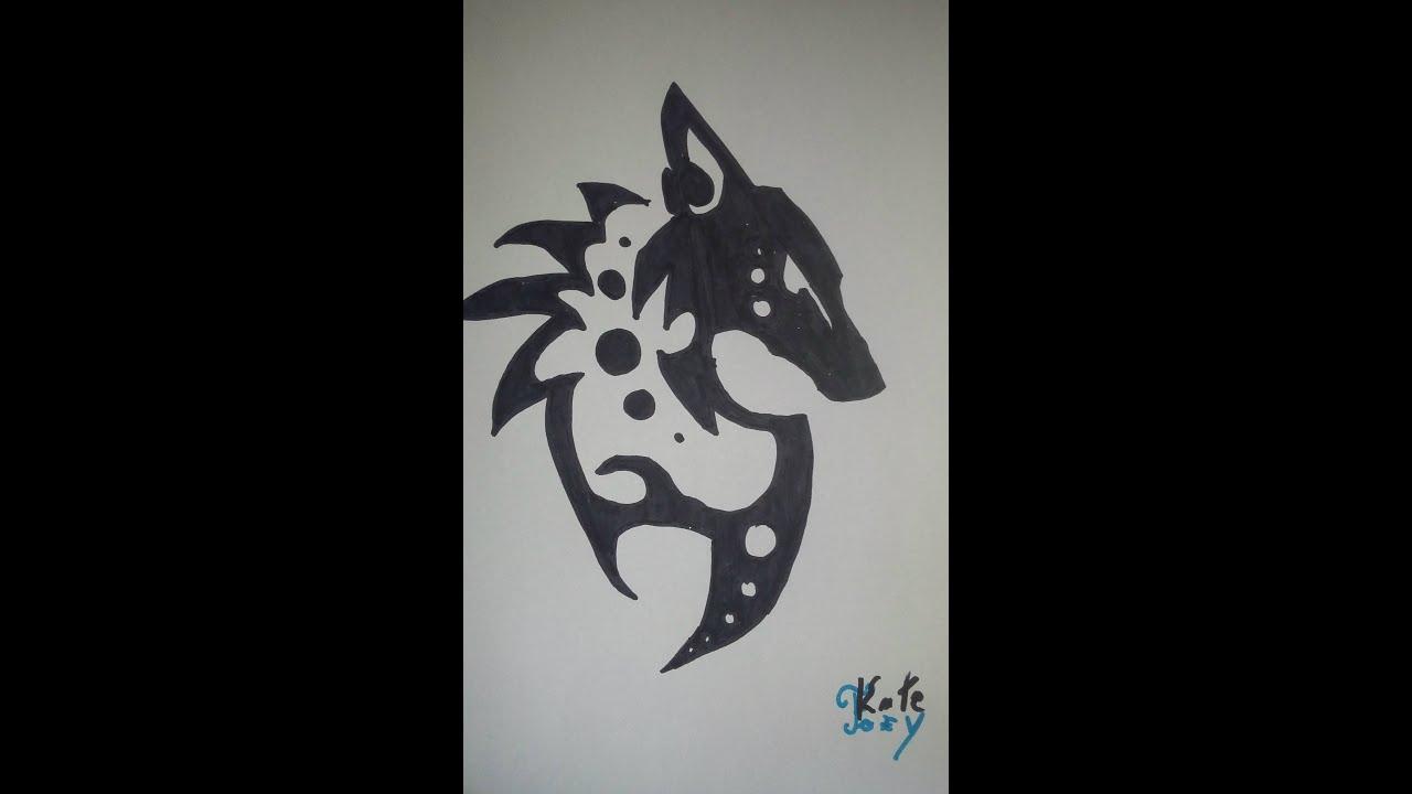 How To Draw A Tribal Fox Symbol Youtube