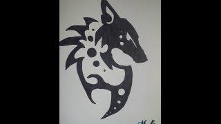 How to draw a Tribal Fox symbol