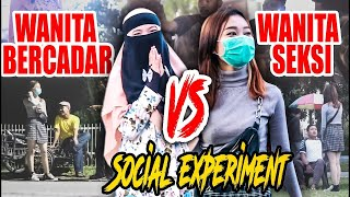 WANITA SEKSI VS WANITA BERCADAR (Social Eksperiment On Publik) - Diary Aryani