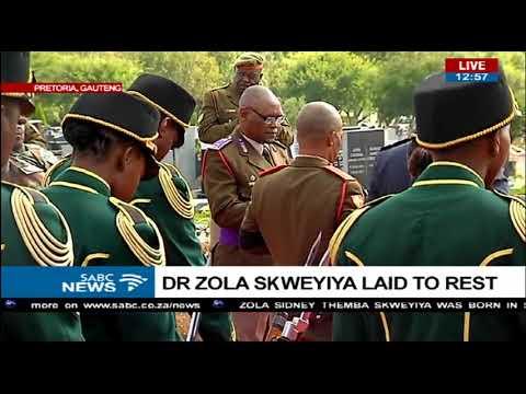 Zola Skweyiya funeral proceedings at Pretoria east cemetery