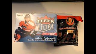 2014 15 Fleer Ultra Hockey Retail Blaster Box mini soccer figure