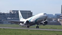 Tailwind Airlines - Boeing 737-400 - 2 takeoffs at Brussels (TC-TLC + TLD)