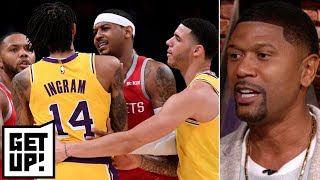 Brandon Ingram deserved 15-game suspension, Rajon Rondo 10 games for fight - Jalen Rose | Get Up!