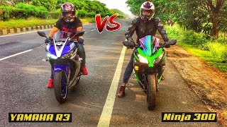 YAMAHA R3 VS KAWASAKI Ninja 300 DRAG RACE | TOP END | HIGHWAY BATTLE