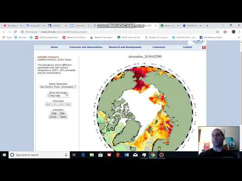 Arctic Sea Ice, Weather and Climate Analysis for October 27, 2018