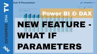 'ماذا لو' المعلمة ميزة استعراض - Power BI & DAX