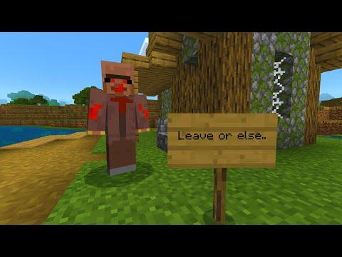 This Minecraft villager threaten to kill me in Minecraft..