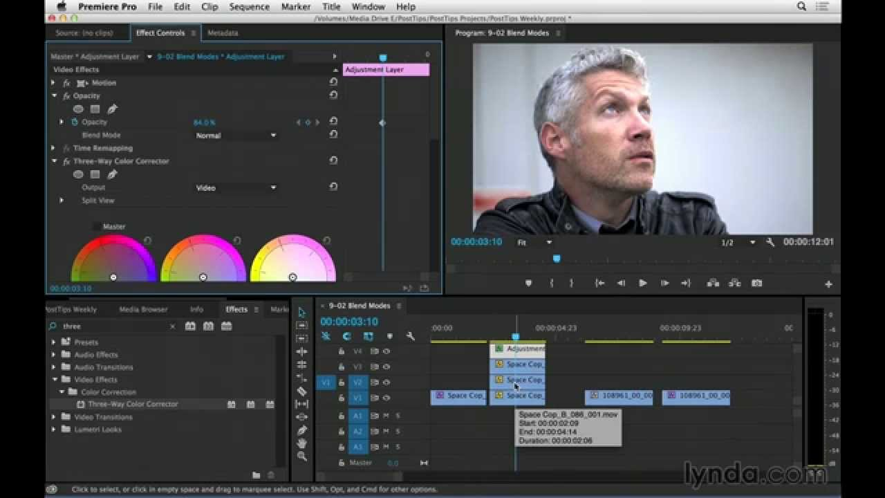 Using blend modes to correct overexposure in Premiere Pro | video post tips  | lynda com