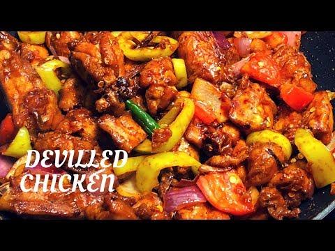 Devilled Chicken-Sri Lankan style: ඩෙවල් චිකන් සදා ගන්නා ක්රමය