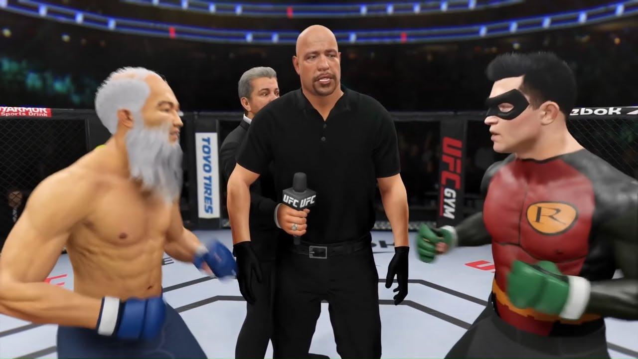 Old Bruce Lee vs. Robin - EA sports UFC 4