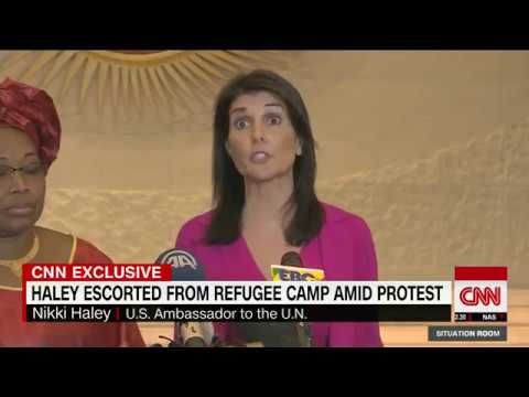 Nikki Haley evacuated from South Sudan refugee camp