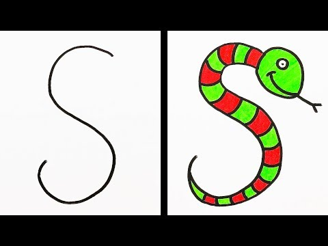HOW TO TURN LETTERS INTO FUNNY ANIMALS