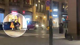 Smash and grab-kupp  i Stockholm – lastar bilen med lyxjackor från Moose Knuckles