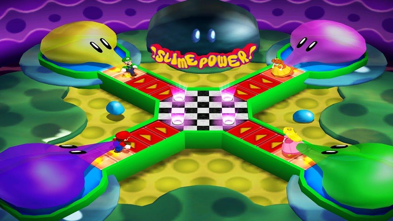 Mario Party 4 - Battle Mode 7 Win - Mario vs Lugi vs Peach vs Daisy