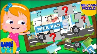 Milk van puzzle Video For Kids | Fun Learning Video for toddlers