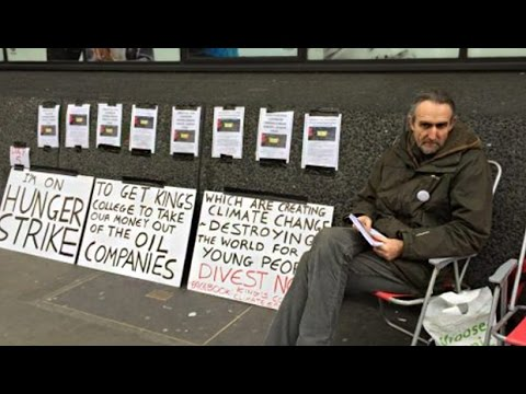 Hunger Strike to Get King's College to Divest from Fossil Fuels