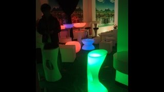 Led Illuminated Bar Chair Seat Sl-lsc3840 With Control+ Adapter,led Light Up Bar Stool Chair