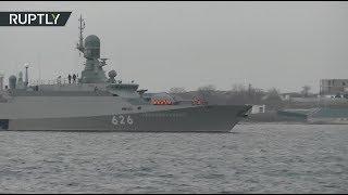 Малый ракетный корабль «Орехово-Зуево» прибыл на базу в Севастополь