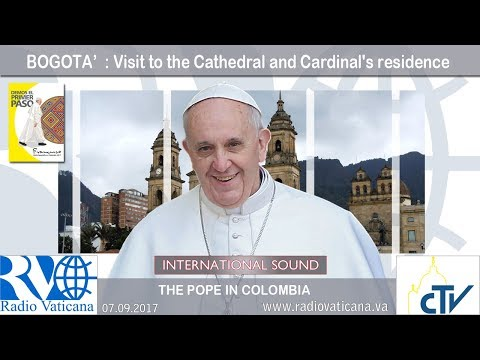 2017.09.07 Pope Francis in Colombia – Visit to the Cathedral and Cardinal's residence