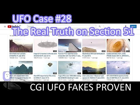 The TRUTH about Section 51 CGI UFO Chan - The Out There Channel UFO Case#28