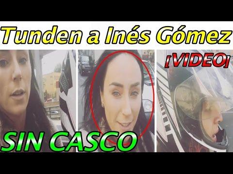 Tunden a Inés Gómez Mont por VIAJAR en MOTO sin CASCO!