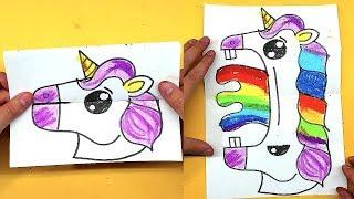 ЄДИНОРІГ - Листівка ІГРАШКА малюнок для дітей
