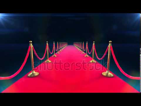 stock footage unrolling red carpet animation and paparazzi ...