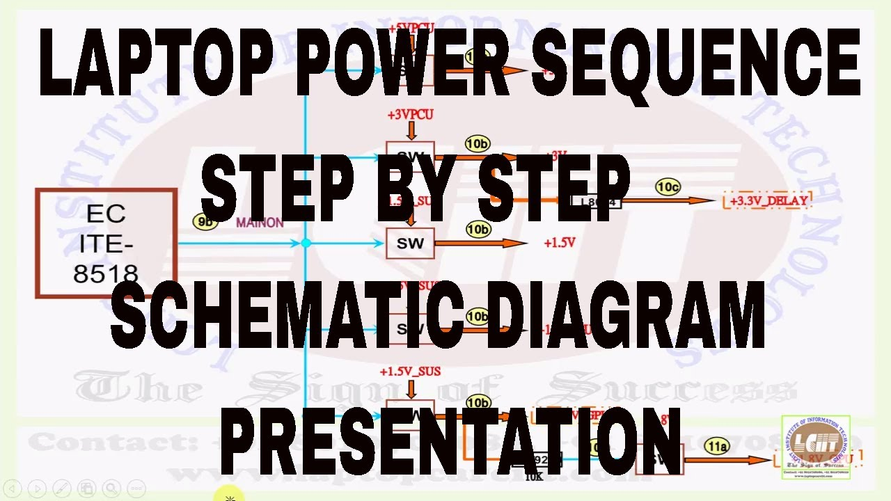 hight resolution of laptop power sequence step by step schematic diagram tutorial lciit videos