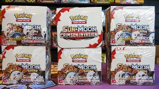 Opening 6 Pokemon Crimson Invasion Booster Boxes! (entire case)