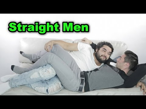 Straight Men Cuddle Men For The First Time!