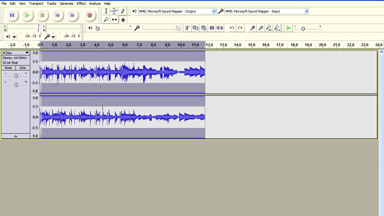 Music Next Door Effect - Muffled Sound FX using Audacity GVerb