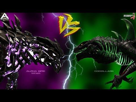 Alpha King Titan VS GodzillArk | Ark BATTLE