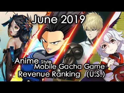 Jun.2019 Anime Mobile Gacha Game Revenue Review (U.S. Region)