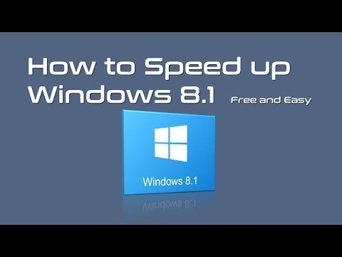 How To Make Computer Faster Windows 8 Or 8.1 - Free And Easy