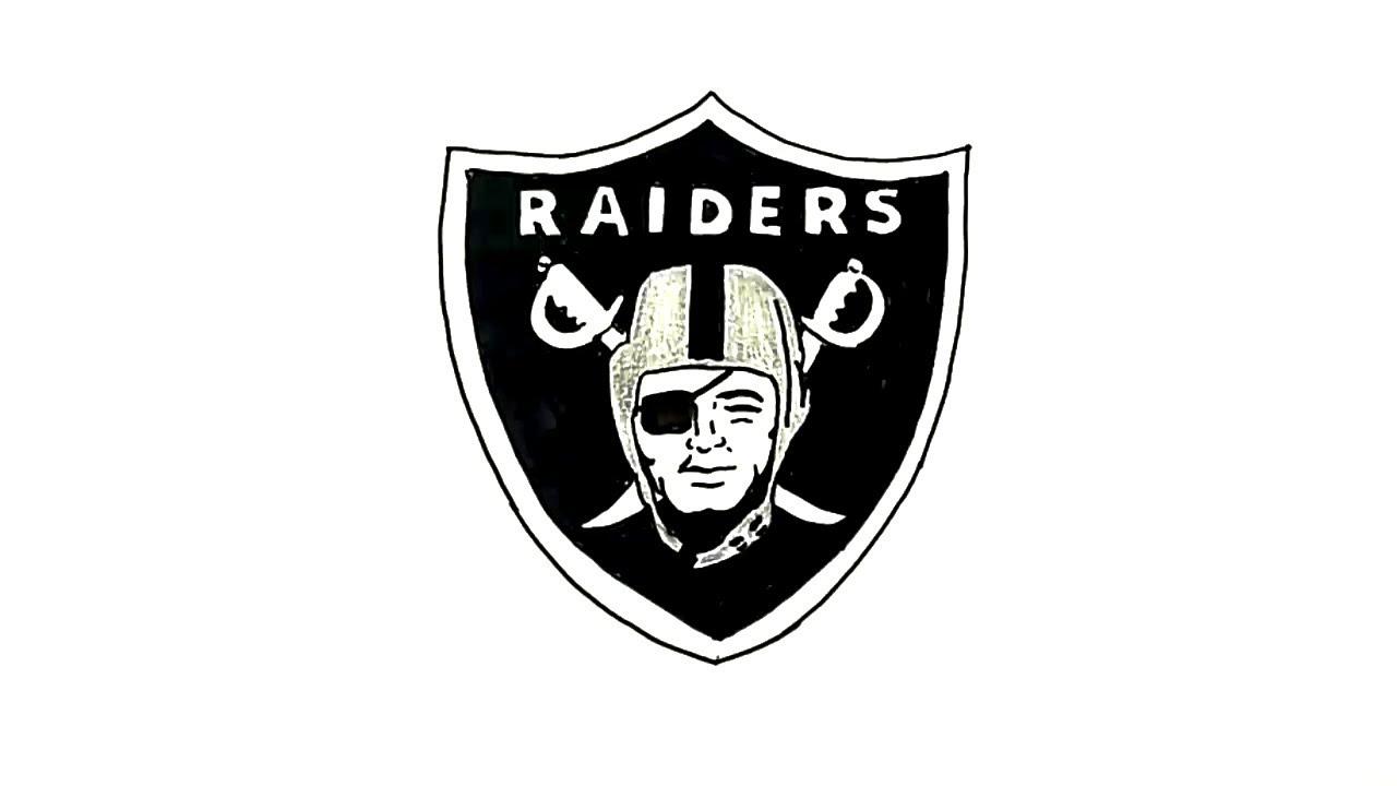 How to Draw the Oakland Raiders Logo - YouTube  Cool Raiders Logo