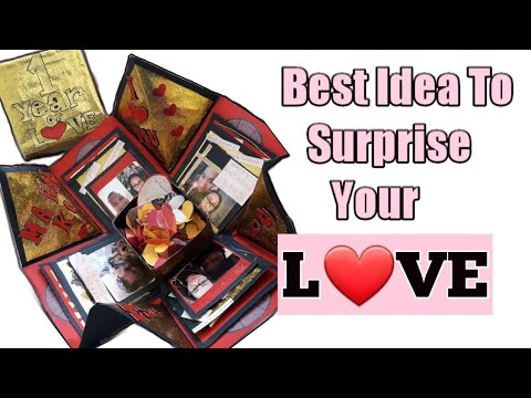 DIY: HOW TO MAKE EXPLOSION BOX FOR ANNIVERSARY | VALENTINES |  IDEA TO SURPRISE YOUR BOY FRIEND/GF😍