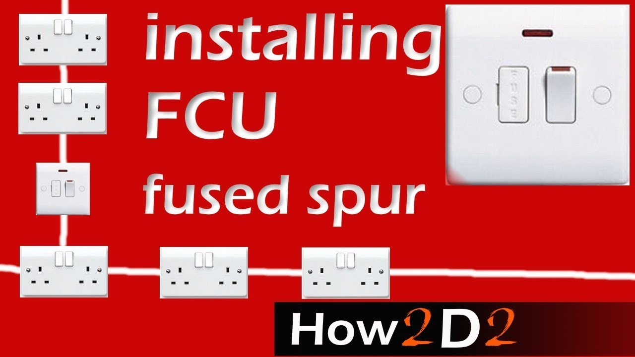 rcd spur wiring diagram kicker cvr dvc fused connection unit fcu how to wire youtube