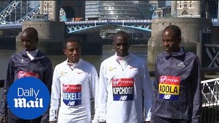 Eliud Kipchoge is 'not worried about the weather' for marathon - Daily Mail