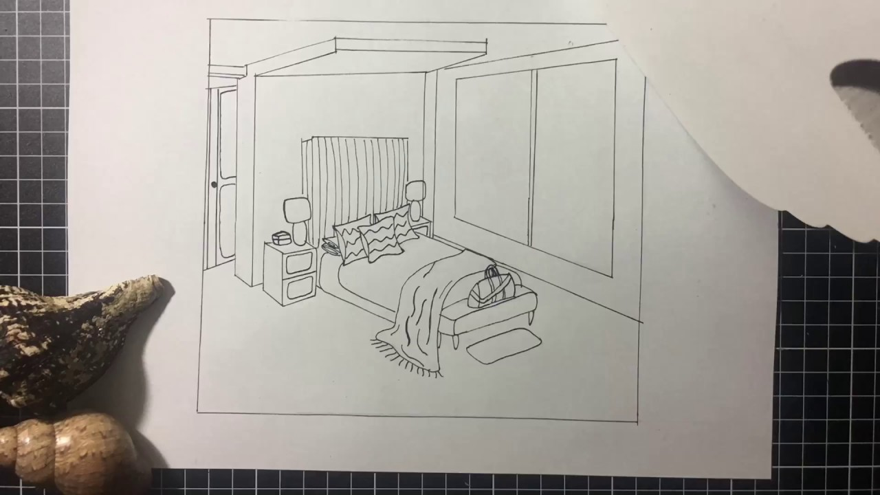 Master Bedroom Drawing Youtube
