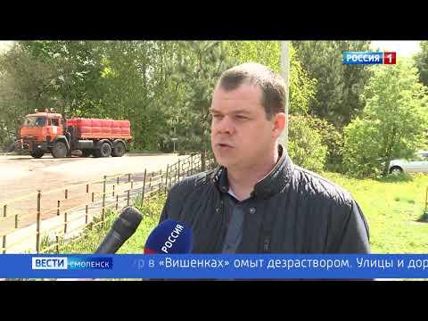 В Смоленске убивают вирус на дорогах и остановках