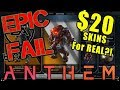 Anthem's $20 Skin Prices Are RIDICULOUS! - Angry Rant!
