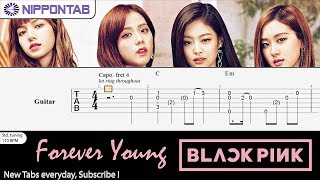 【Guitar TAB】〚BLACKPINK〛Forever Young  (Fingerstyle) 기타 탭 / ギター tab譜 & tutorial